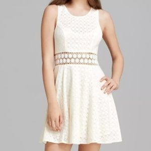 Free Peoply Daisy fit & flare ivory dress